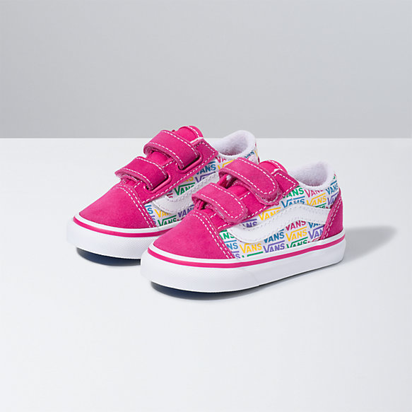 Toddler Rainbow Vans Old Skool V