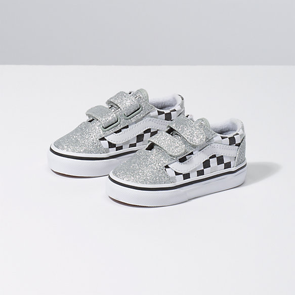 Toddler Glitter Checkerboard Old Skool V