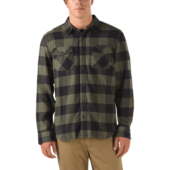 Hixon flannel shirt shop mens shirts at vans for How to wear men s flannel shirts