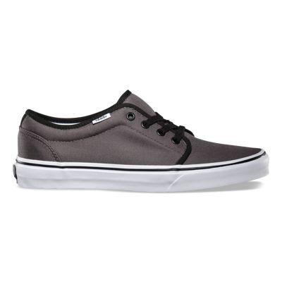 Vans Mens 106 Vulcanized Gray Authentic Skate Shoes 55XZN4B57