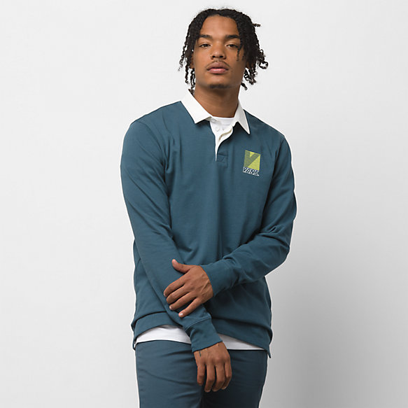 Retro Sport Long Sleeve Polo Shirt