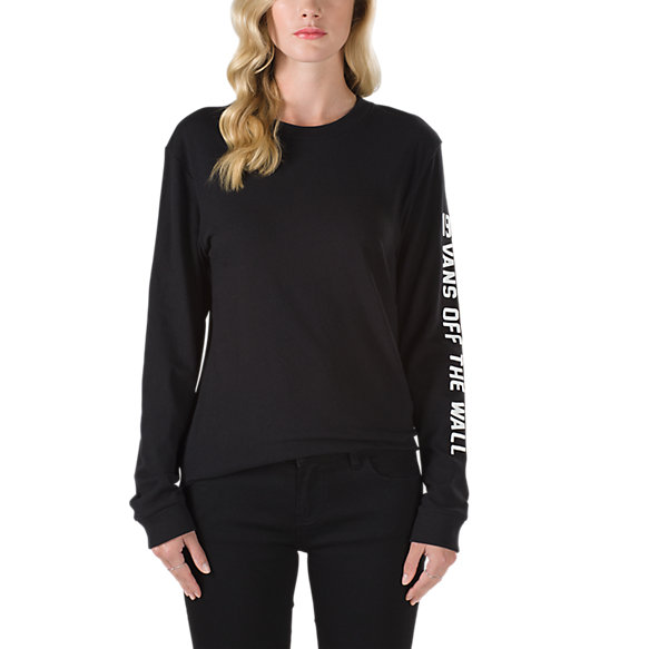 Side Checked Long Sleeve T-Shirt