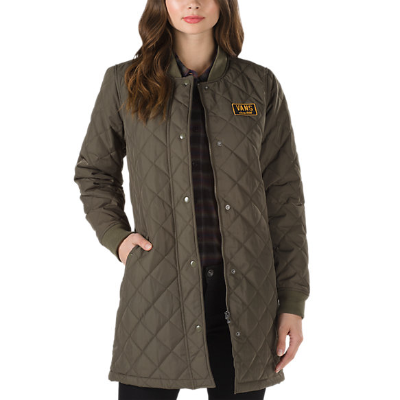 Boom Boom Quilted Coat | Shop Womens Jackets At Vans : brown quilted coat - Adamdwight.com