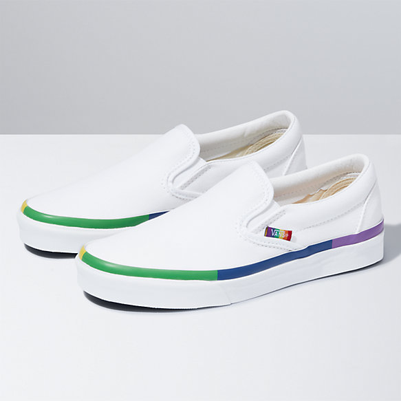 Rainbow Foxing Slip-On