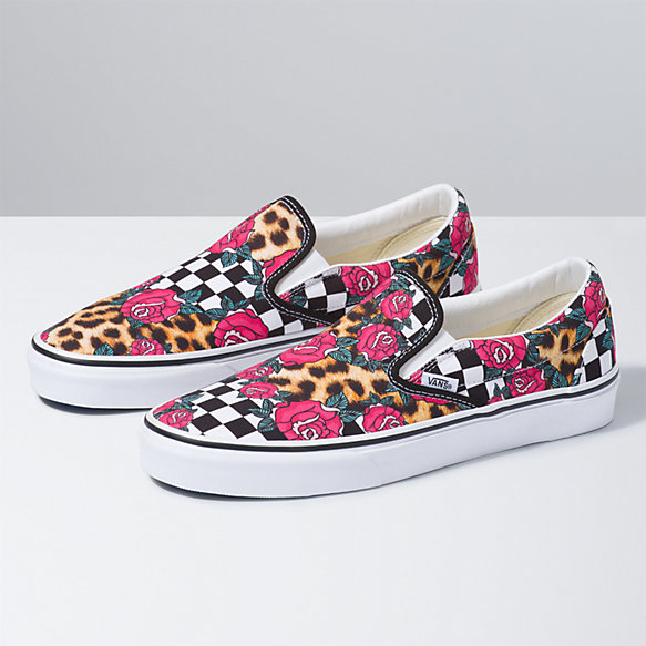 Rose/Animal Check Classic Slip-On