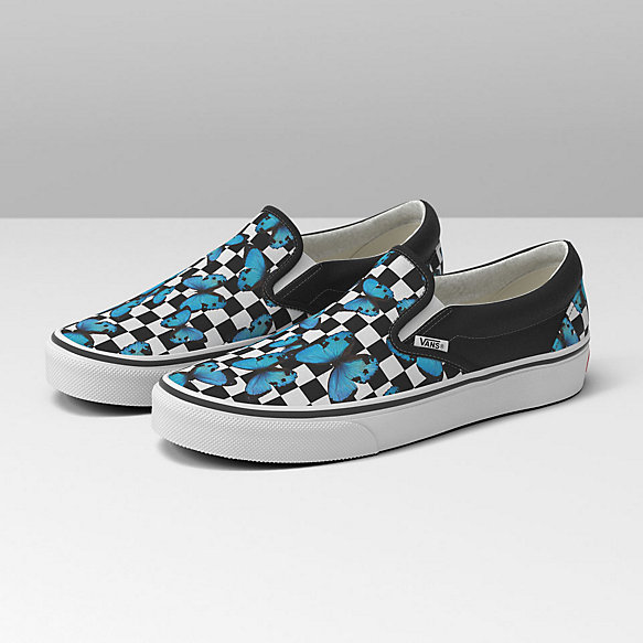 Butterfly Checkerboard Classic Slip-On