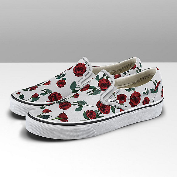 Red Roses Classic Slip-On