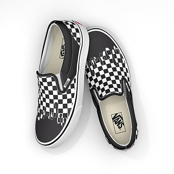 Paint Drip Checkerboard Classic Slip-On