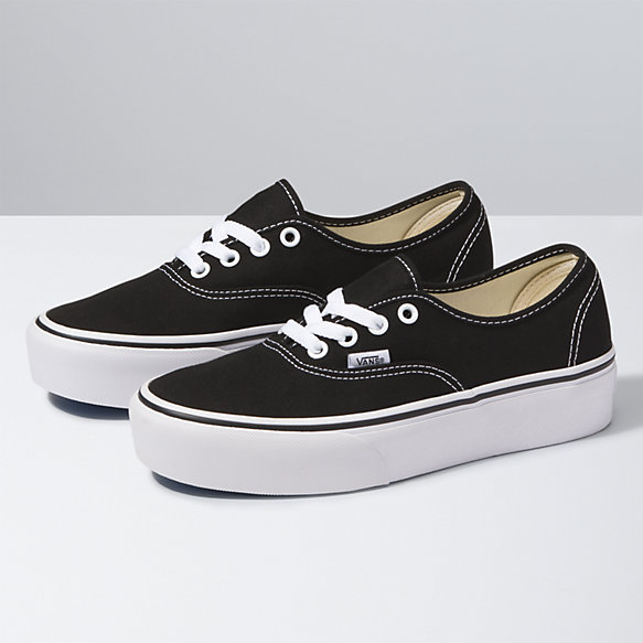 vans black & white authentic lo pro trainers nz
