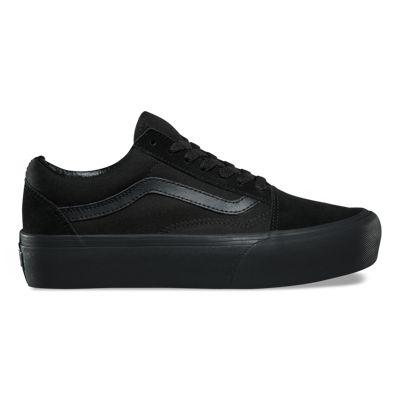 Vans Old Skool Platform BlackBlack For Womens Vans Old