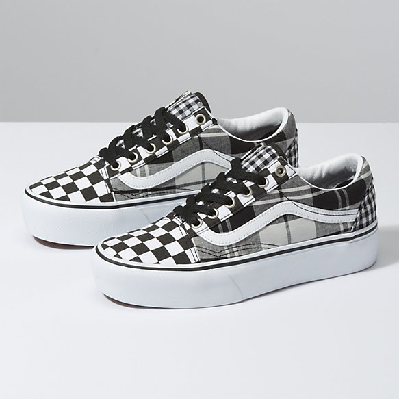 768466b8 Plaid Checkerboard Old Skool Platform