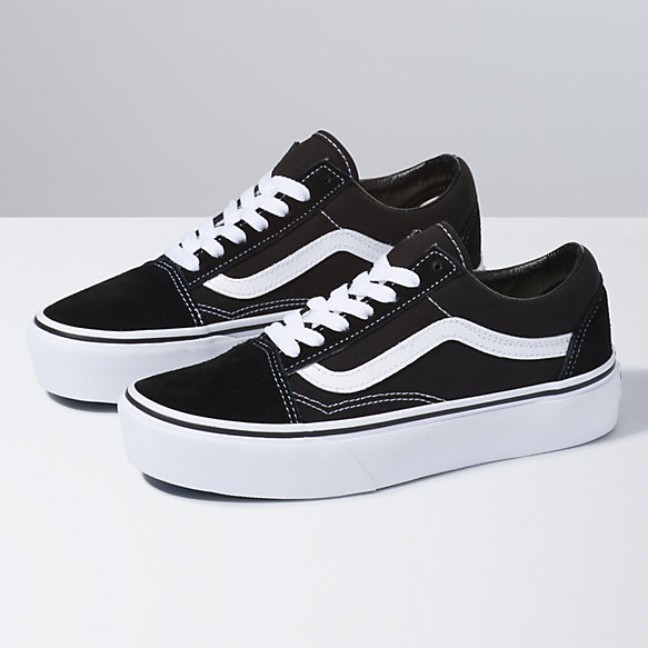Vans Old Skool Platform Trainers In Black And White pay with visa cheap online XLpn13GoM