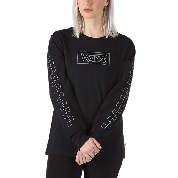 After Dark Reflective Long Sleeve Boyfriend Tee