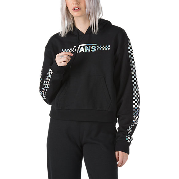 Shine It Iridescent Crop Hoodie