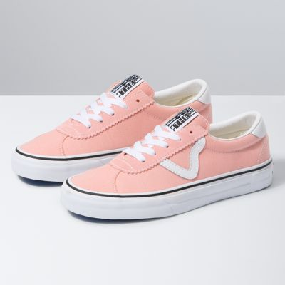 The Denim Vans Sport is a retro lace-up style featuring sturdy textile uppers with suede accents, old school V sidestripes, padded collars, and signature rubber waffle outsoles.