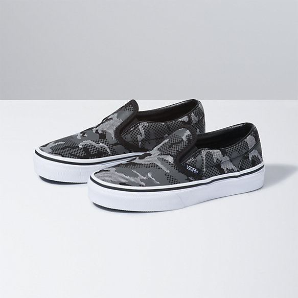 Kids Pattern Camo Classic Slip-On