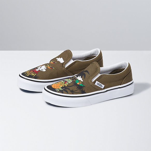 Kids Dineapple Floral Classic Slip-On