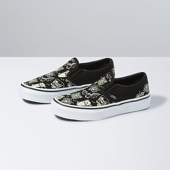 Kids Glow Sk8 Monsters Classic Slip-On