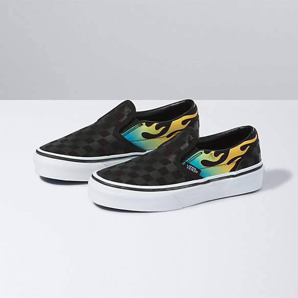 Kids Glow Flame Classic Slip-On