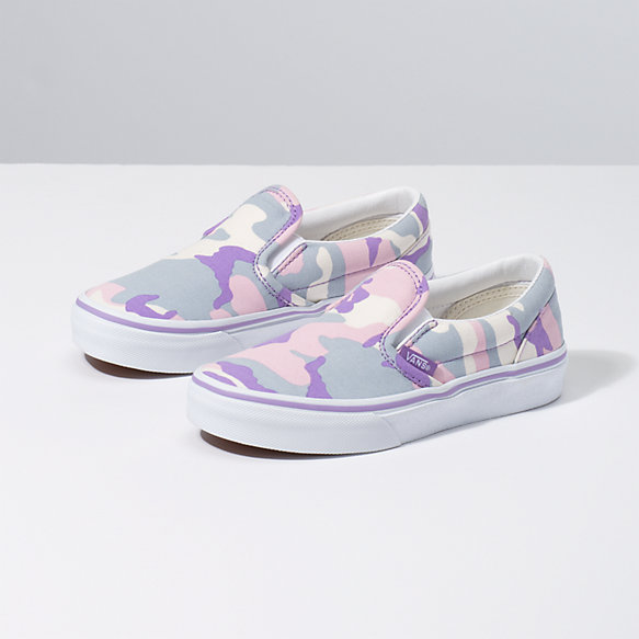 Kids Pastel Camo Slip-On