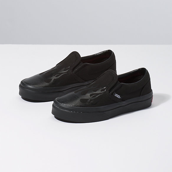 Kids Glossy Flame Slip-On