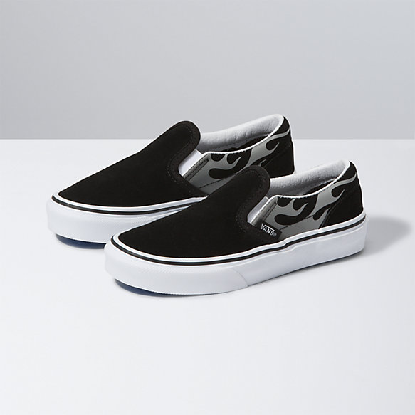 Kids Suede Flame Slip-On