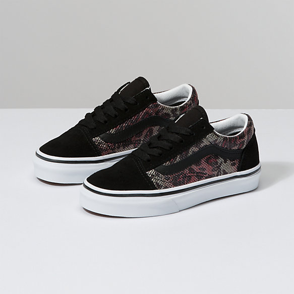 Kids Leopard Mesh Old Skool