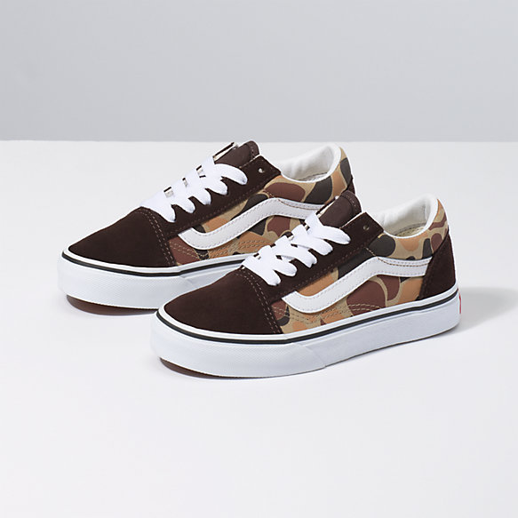 Kids Vintage Camo Old Skool