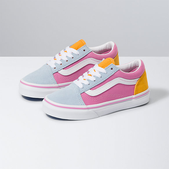 Kids Color Block Old Skool