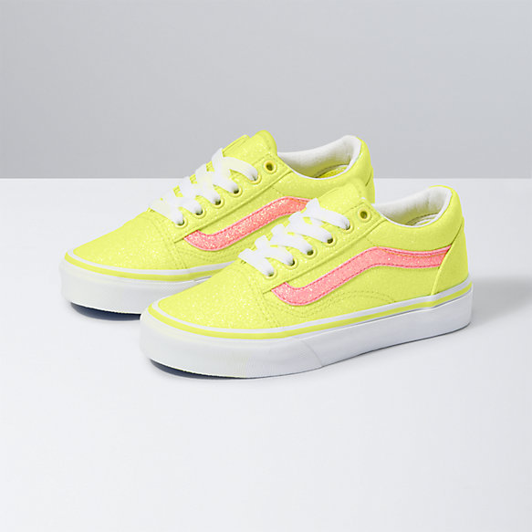 Kids Neon Glitter Old Skool