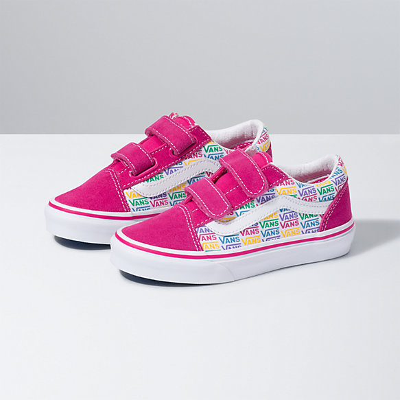 Kids Rainbow Vans Old Skool V