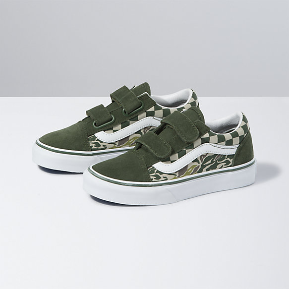 Kids Camo Checkerboard Old Skool V
