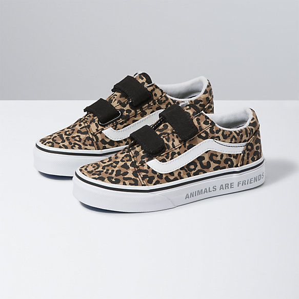 Kids Animal Checkerboard Old Skool V