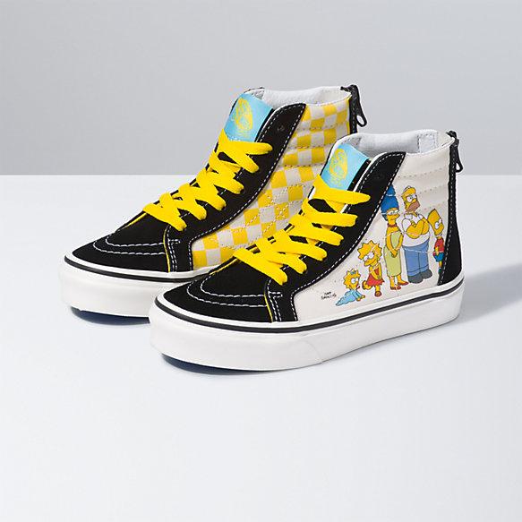 The Simpsons x Vans Kids Sk8 Hi Zip