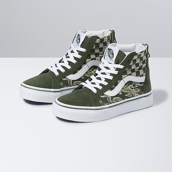 Kids Camo Checkerboard Sk8-Hi Zip