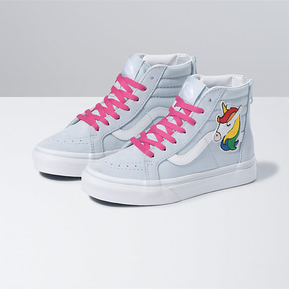 Kids Sequin Patch Sk8-Hi Zip