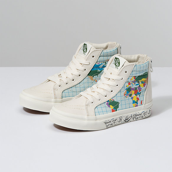 Save Our Planet X Vans Kids Sk8-Hi Zip