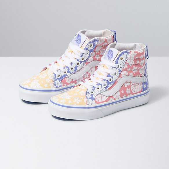 Floral Classic Canvas Sneakers High Top Canvas for Kids Printed Shoes for Kids
