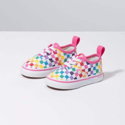 Vans Checkerboard Authentic Elastic Lace (Lil' Kids)