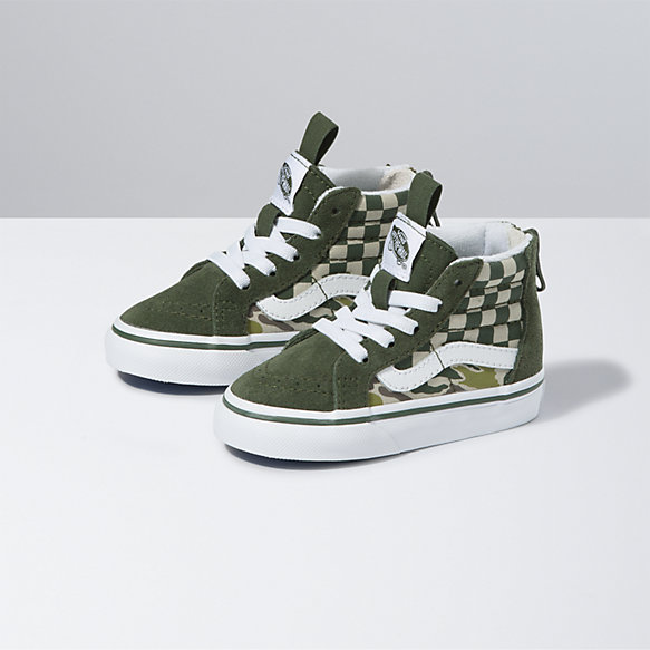 Toddler Camo Checkerboard Sk8-Hi Zip