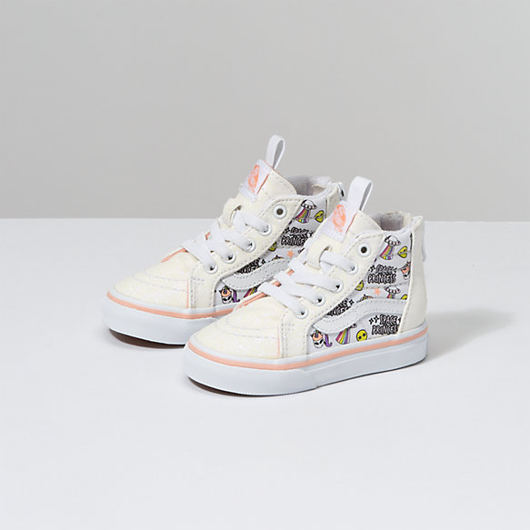 Toddler Unicorn Alien Sk8-Hi Zip