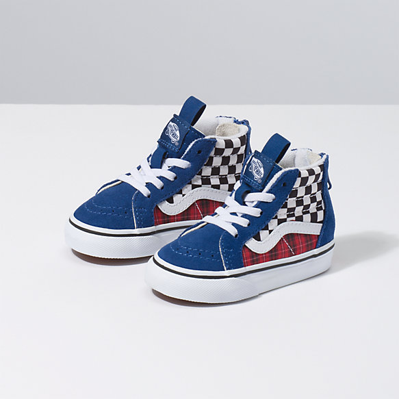 Toddler Plaid Checkerboard Sk8-Hi Zip