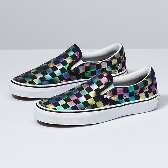 Iridescent Check Slip-On