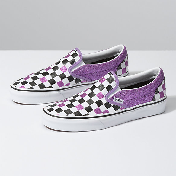 Glitter Checkerboard Slip-On