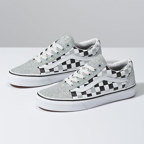 567fc0dfbaf45 Glitter Checkerboard Old Skool   Shop At Vans