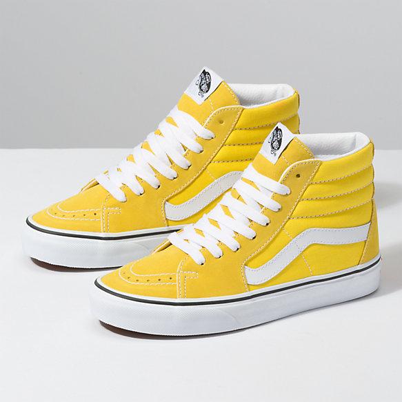 yellow high top vans