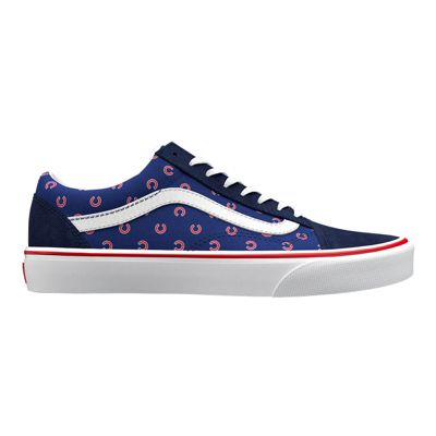 Vans Womens Customs MLB Old Skool (Chicago Cubs Blue)