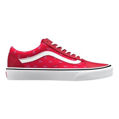 Vans Womens Customs Old Skool (Anaheim Angels/Red)