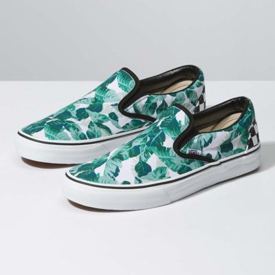Vans Customs Leaf Me Alone Slip-On Wide (Customs)