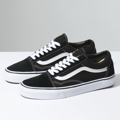 Alta qualit Vans Old Skool SneakerBlack White vendita